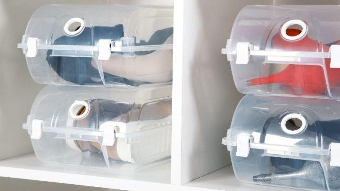 rangements pour vos chaussures boites en plastiques